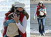 Photos of Minnie Driver With Baby Henry on the Beach