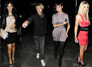 Photos Of McFly's Dougie Poynter and The Saturdays' Frankie Sandford Out On A Date For Rochelle Wiseman's Birthday Bash