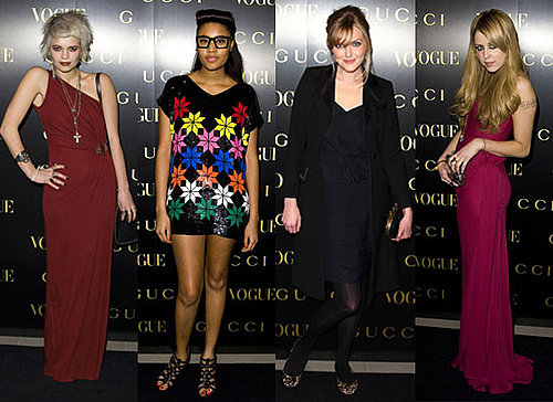 Photos of Pixie Geldof, VV Brown, Sophie Dahl, Peaches Geldof at Gucci Vogue Dinner