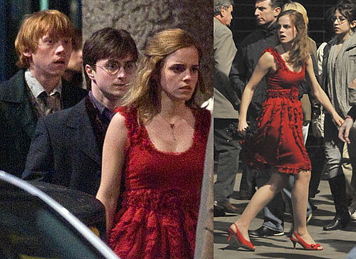 Photos of Daniel Radcliffe, Emma Watson and Rupert Grint Filming Harry Potter in London
