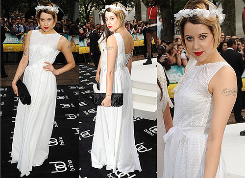 Photos of Peaches Geldof at Bruno Premiere White Dress