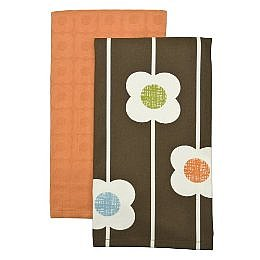 Home Flower Kitchen Towels 2 pk. - Brown Multicolor (18x28&quot;) : Target