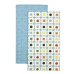 "Home Flower Kitchen Towels 2 pk. - Blue Multicolor (18x28"") : Target"