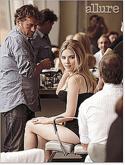 scarlett johansson behind the scenes for Allure mag