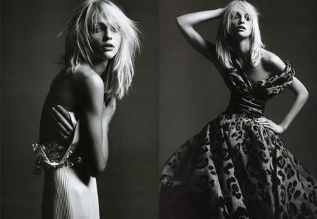 Sasha Pivovarova by Hedi Slimane for French Vogue april issue