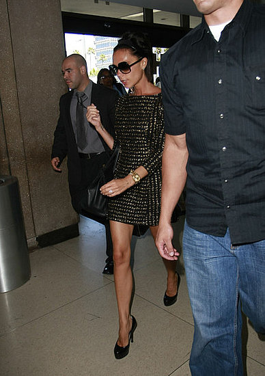 Victoria Beckham catching a flight out of LAX