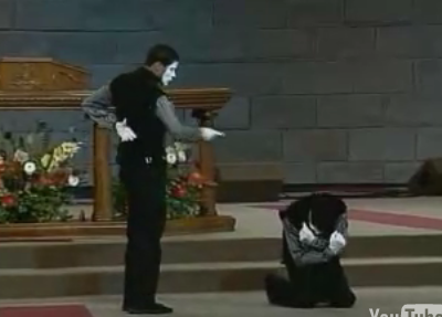 Video of K&K Mimes the Christian Mime Duo