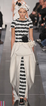 Spring 2009 Couture Shows - Monochrome Stripes