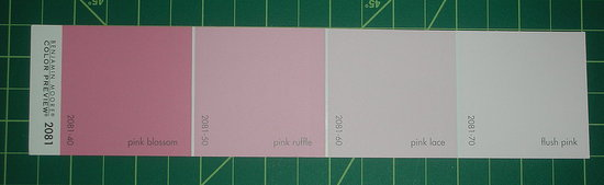 Before and After: My Paint Swatch Papercut Valentine