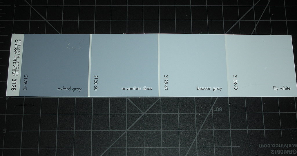 I was on a roll with my papercuts last night, so I decided to make something a little more evergreen. I didn't turn this gray paint swatch into a Valentine, but I thought I'd share, anyway . . .