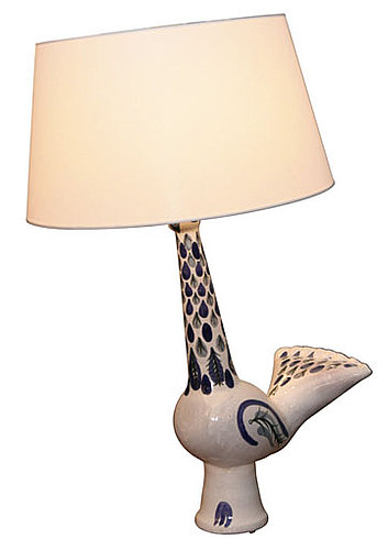 Stylish or Silly? Robert Picault Ceramic Bird Table Lamp
