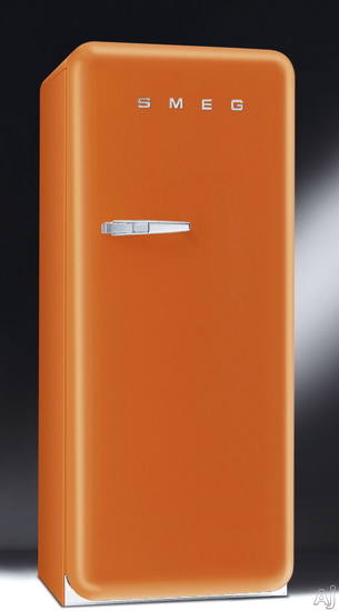If I had my way, I'd abandon our fridge and replace it with this beautiful orange SMEG fridge ($1,999). Short of this, try applying some bright wall stickers to your blah white refrigerator.