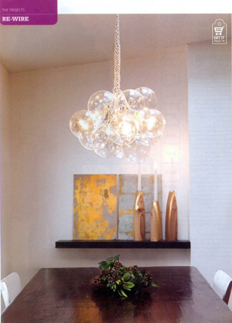 Pick up the latest copy of ReadyMade to learn how to make this stunning chandelier for less than $75!