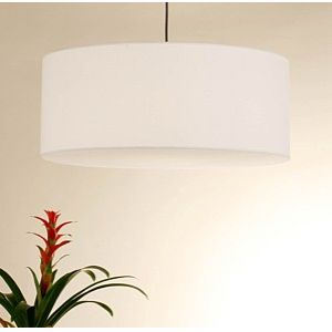 Order the Meridian Grande Pendant Lamp ($467) and specify the silk faux bois shade.