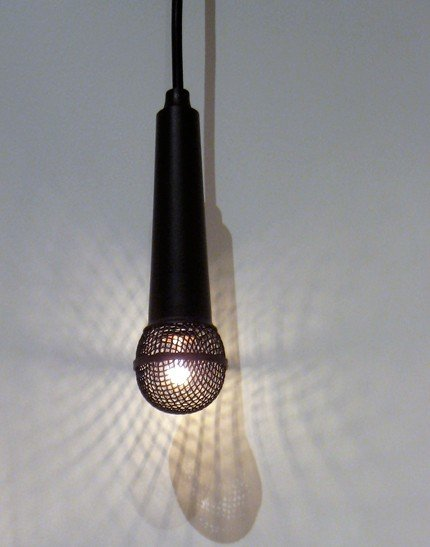 The Solo Pendant Light ($236) is a remix of the classic microphone as light fixture, and bound to entertain anyone with a karaoke habit.