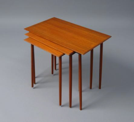"The three-table set, called ""Trial,"" is a classic design and debuted at Ikea in 1961. Source"