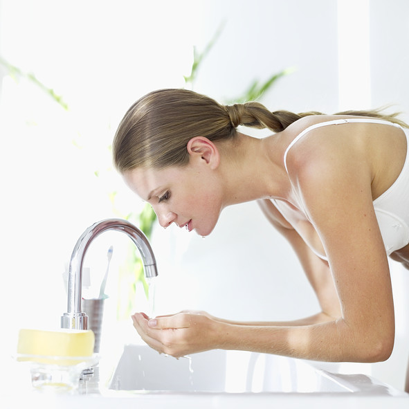 Turn off the tap while you're brushing your teeth or shaving!