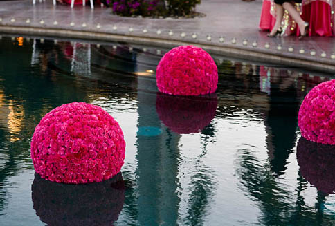 Cool Idea: Floating Flower Balls