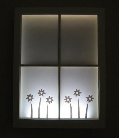 Create illuminated art with a window frame. Want to get the directions? Learn each step on Curbly.