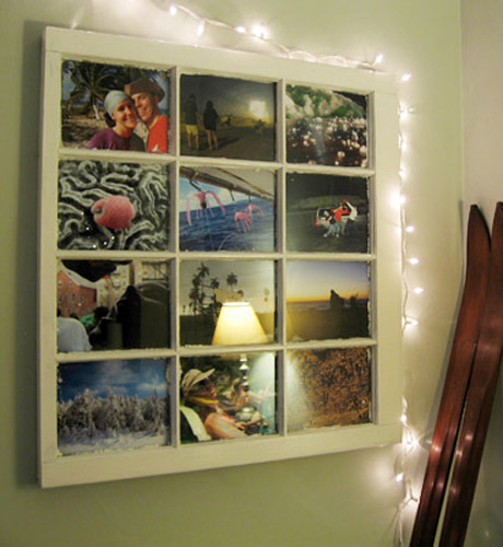 I love the way these window-framed photos liven up this wall, from editor Anne E. Collins's home.