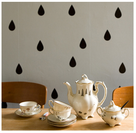 Raindrops on roses are so last season. The Studio Violet Wall Stickers can be used on an be used on walls, mirrors, desks, etc., and you'll want to shower them everywhere.