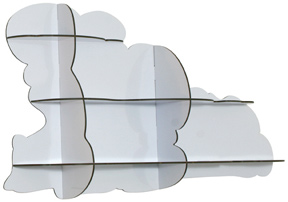 What's not to love about a cloudy day when this Ibride Nimbus Cloud Shelf ($560) hangs on your wall?