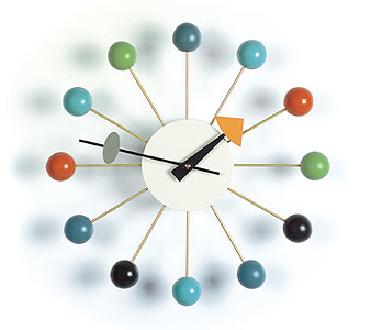 Continue the theme of the ball game with the Vitra Nelson Ball Clock ($335).
