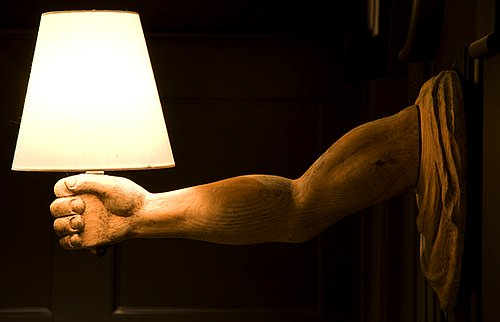 Love It or Hate It? Wooden Arm Sconces