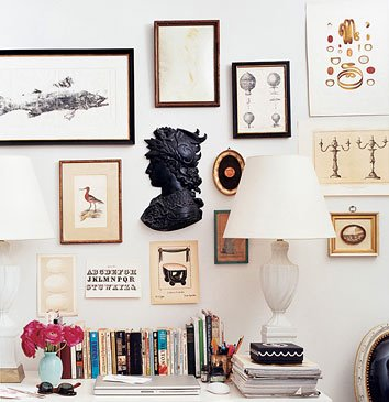 Decorology helps you hang your art. Check out some great tips for arranging everything perfectly.