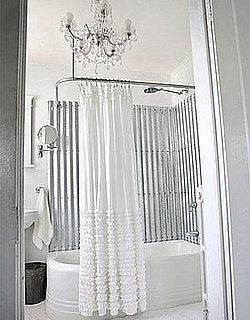 Cool Idea: Galvanized Steel Instead of Shower Tile