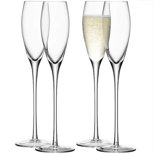 Champagne Flutes set of 4 :: Stemware :: Glassware :: Tabletop :: Lekker Home