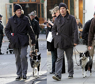 Ethan Hawke Walks His Dog