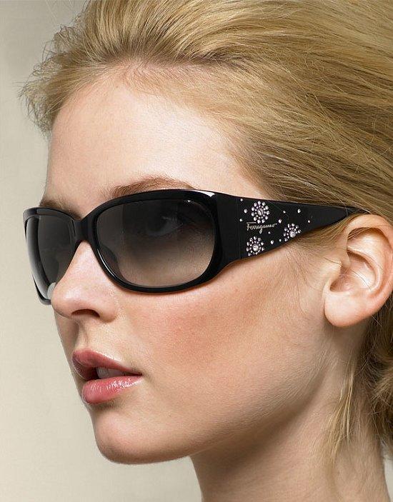 Trend Alert: Bejeweled Wraparound Sunglasses