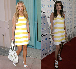 Who Wore It Better? Alice + Olivia White & Yellow Sequin Dress