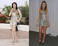 Who Wore It Better? Gold Sequin Mini Dress
