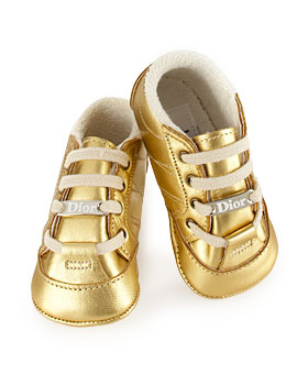 Simply Fab: Christian Dior Gold Baby Sneakers