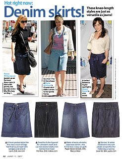 Trend Alert: Easy Breezy Denim Skirts