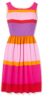 Fabworthy: Isaac Mizrahi Sunset Stripe Cotton Dress