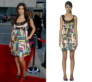 Found! Kim Kardashian's Mint Dress