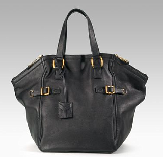 The Look For Less: Black Yves Saint Laurent Downtown Tote