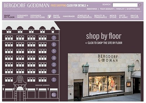 "Fab Site: Bergdorf Goodman's ""Shop By Floor"" Feature"
