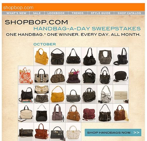 On Our Radar: Shopbop's Handbag-A-Day Sweepstakes