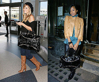 Who Wore It Better? Treesje Black Patent Bag
