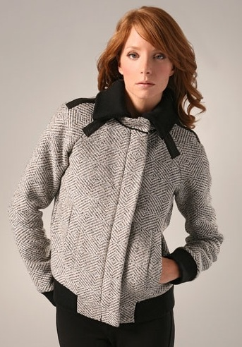 The Look For Less: L.A.M.B. Metallic Tweed Jacket
