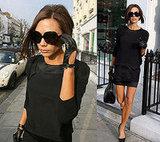 Victoria Beckham in What Goes Around Comes Around black dress