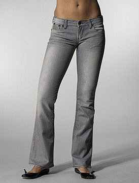 575 DENIM Bootcut in Grey Leather at Revolve Clothing - Free Shipping!