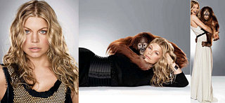 Fergie & Rocky the Orangutan Ape Around for Elle