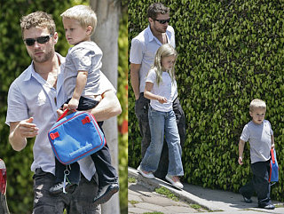Ryan Out With The Mini Versions of Himself & Reese