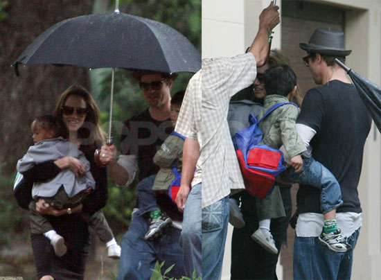 Rainy Day Equals Cute Jolie-Pitt Family Times