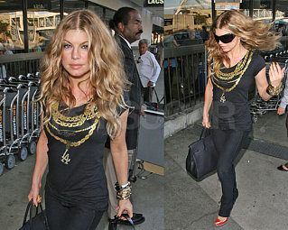 Fergie Gets Ready For PJ Party